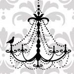 Elegant Chandelier Vinyl W..