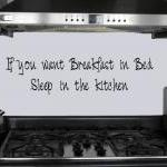 Kitchen Decal - breakfast i..
