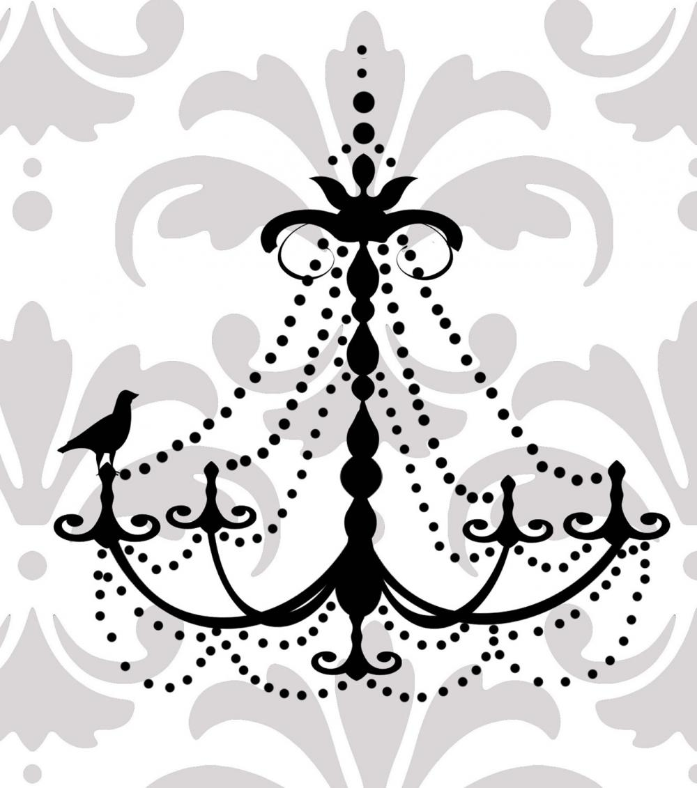 Elegant chandelier vinyl wall decal