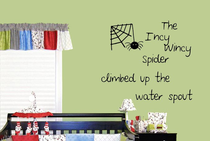 Incy Wincy Spider Wall Decal