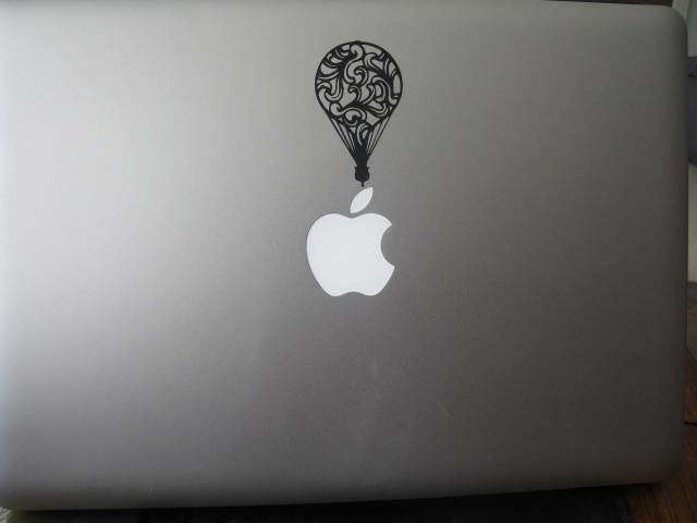 Up in the Air Balloon Vinyl Laptop or Wall decal