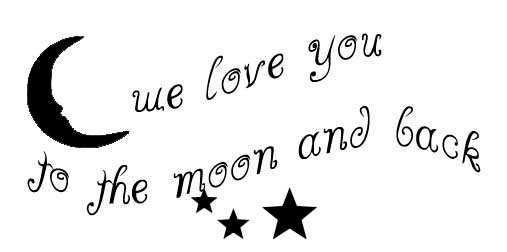 We Love You To The Moon And Back Vinyl Decal For Nursery