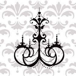 Gorgeous Chandelier vinyl decal UK