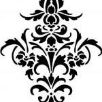 Vinyl Damask Flourish Decal  