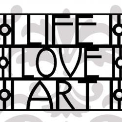 Life Love Art - UK seller - Art deco style vinyl decal