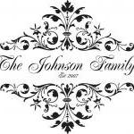 Family Name or Monogram, Vinyl Decal- UK Seller 