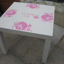 Children's play table decals, cafe, tea parties