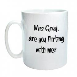 "50 shades Mug ""Are you flirting with me"""