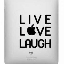 Live Love Laugh Ipad Decal - UK Seller