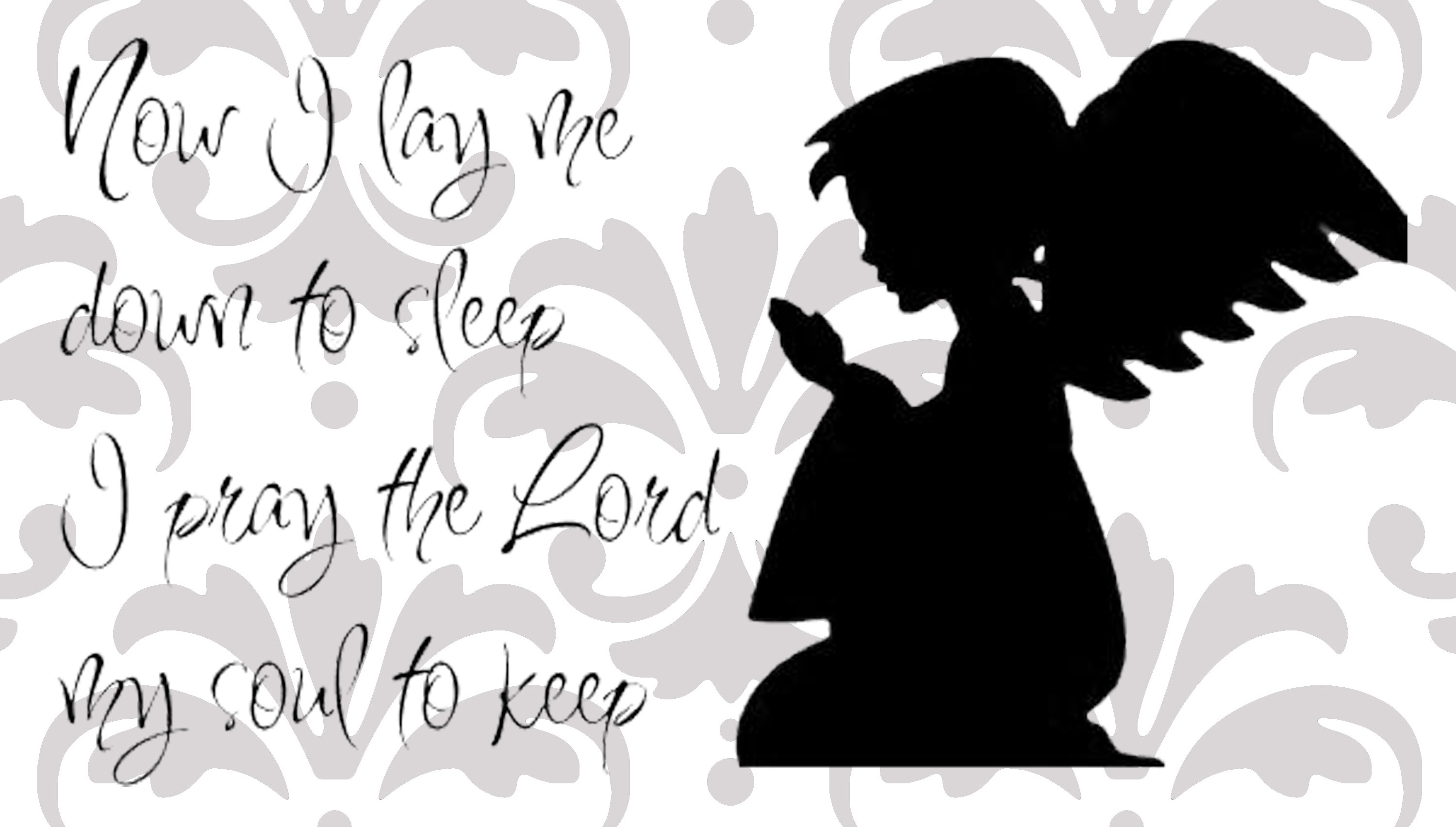 Now i lay me down to sleep wall decal - Now I Lay Me Down To Sleep Children S Decal Uk Seller