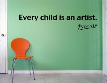 Picasso Every Child Is An Artist Vinyl Wall Decal On Luulla